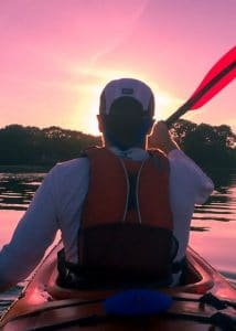 fly fishing with a kayak